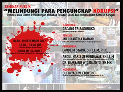 """Seminar Publik """"Melindungi Para Pengungkap Korupsi"""""""